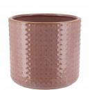 Keramik Kübel Foreo mini, D8cm, H7cm, für TO6, dun
